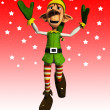 Jumping Elf — Stock Photo