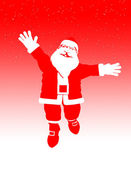 Toon Santa Jumping — Stock Photo