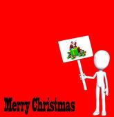 Merry Christmas Figure — Stock Photo