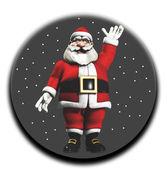 Santa In A Globe — Stock Photo