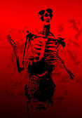Bloody 2D Skeleton With Guts — Stock Photo