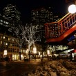 Boston at night — Stock fotografie