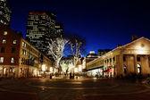 Boston's nachts — Stockfoto