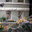 Halloween Haus Dekoration — Stockfoto