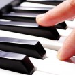 Hands playing music on the piano, hands and piano player, keyboa — Stock Photo