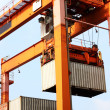Container loading - Stock Photo