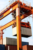 Container loading — Stock Photo