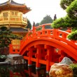 Oriental golden pavilion of Chi Lin Nunnery and Chinese garden, — Stock Photo #4179453