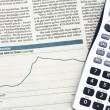 Financial balance and stock market reports — Stock Photo