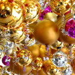 Many christmas balls in different color — Stock Photo