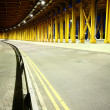 Highway tunnel at night — Stock Photo