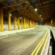 Stock Photo: Highway tunnel at night