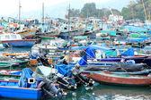 Many fish boat in dock — Stock Photo