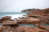 Fırtına. dalgalar ve deniz köpüğü. — Stok fotoğraf