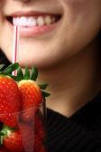 草莓汁 — 图库照片