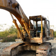 Heavy Duty Construction Equipment Parked at Worksite — Stock Photo #5118872