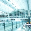 Hall at airport in Hong Kong - Stock Photo