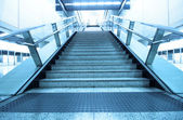 Long stair in a train station in hong kong — Stock Photo