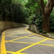 Road with yellow lines — Stock Photo