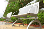 Two steel chair in the park — Stock Photo