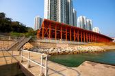Dock in city — Stock Photo