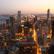 Chicago at twilight — Foto Stock