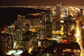 Chicago at night — Stock Photo