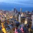 Chicago at twilight - Stock Photo