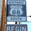 Begin of Route 66 in Chicago - Stock Photo