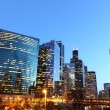 图库照片: Chicago riverside at twilight