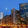 Stock Photo: Chicago riverside at twilight