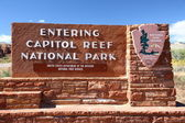 Entrance of Capitol Reef NP — Stock Photo