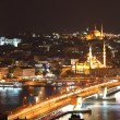 Istanbul at night - Stock Photo