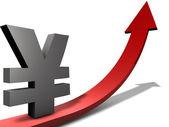 Rising Reminbi and yen — Stock Photo