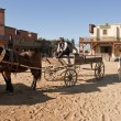 Stock Photo: western town movie set