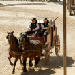 Sheriff and his Deputy driving a stagecoach — Stock Photo #5232513
