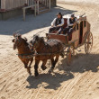 Sheriff and his Deputy driving a stagecoach — Stock Photo #5232526