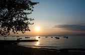 Sunset on Lake Garda — Stock Photo