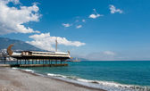 Ship restaurant. Yalta — Stock Photo