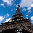 Stock Photo: Eiffel tower on background cloud blue sky