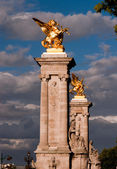 Columns of the Pont Alexandre III — Stock Photo