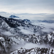 Stock Photo: Overcast and winter mountain