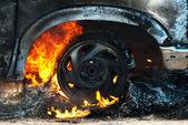 Car fire detail — Stock Photo