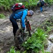 Mountain bikers and mud terrain — Stock Photo #4352343