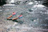 Vinterfiske på isen — Stockfoto