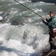 fly fishing&quot — Stock Photo