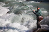 Fly fishing — Stockfoto