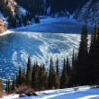 Stock Photo: Frozen mountain lake
