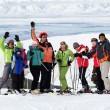 Stock Photo: Friends at ski resort