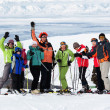 Stock Photo: Friends at the ski resort